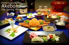 Gourmet Dining at the Niigata Onsen Hot Spring Hotel Akebono