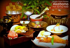 Example of a multi course Kaiseki Dinner